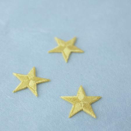 アップリケ-小サイズの星・黄色(1枚)