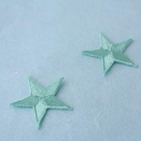 アップリケ-中サイズの星・みどり(1枚)