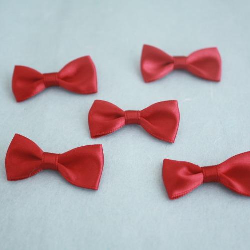 モチーフ-ベーシックリボン5個セット(紅)