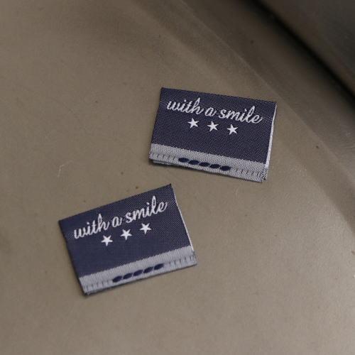 ばら挟みタグ‐リニューアルwith a smile(紺色×白)