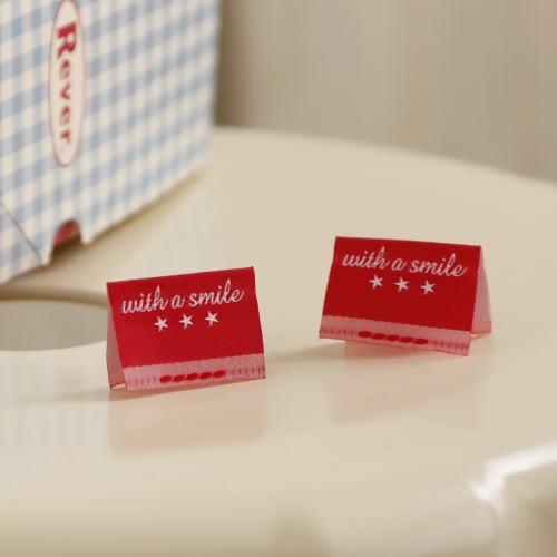 ばら挟みタグ‐リニューアルwith a smile(赤色×白)