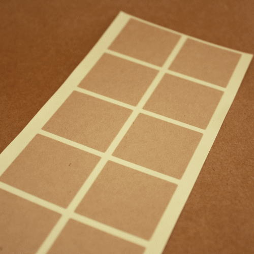 クラフト紙シール‐無地30*30