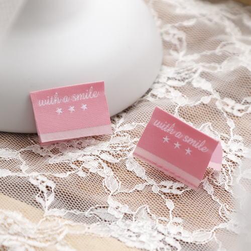 ばら挟みタグ‐リニューアルwith a smile(ピンク色×白)