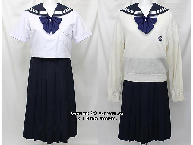精華女子高校の制服(夏)