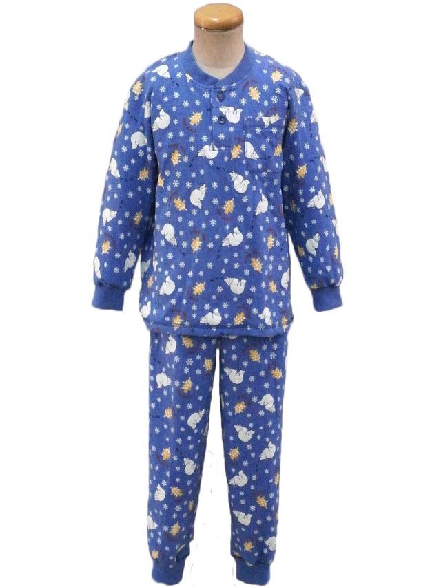 光るパジャマ 接結天竺クマ柄