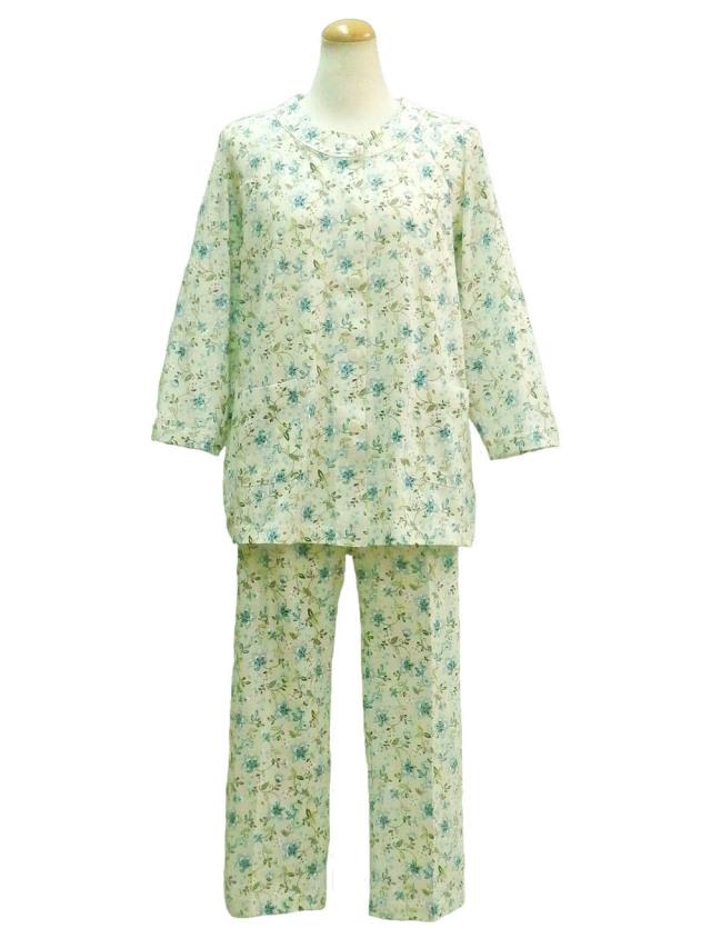 コーマSZ天竺花柄(八分袖、八分パンツ) プチサイズ