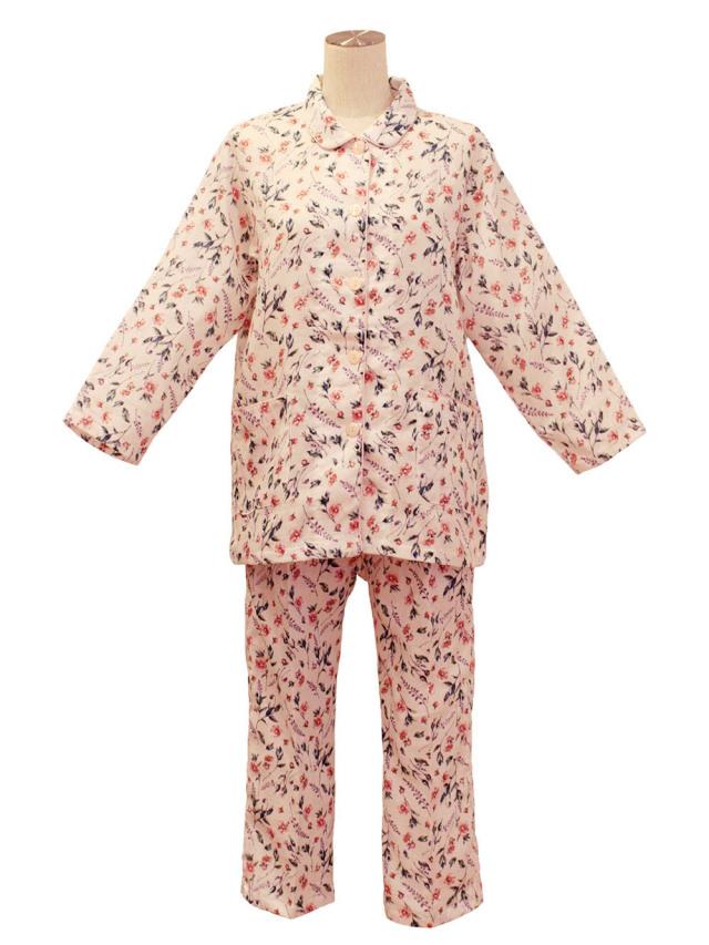 二重ガーゼ花柄(八分袖、八分パンツ) プチサイズ