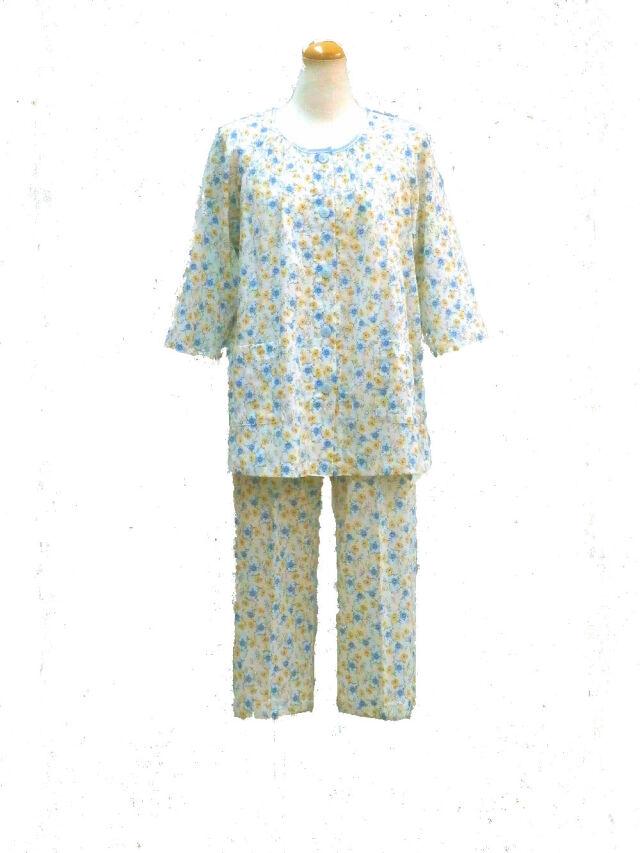 ナミシボ楊柳小花柄(七分袖、七分パンツ) プチサイズ