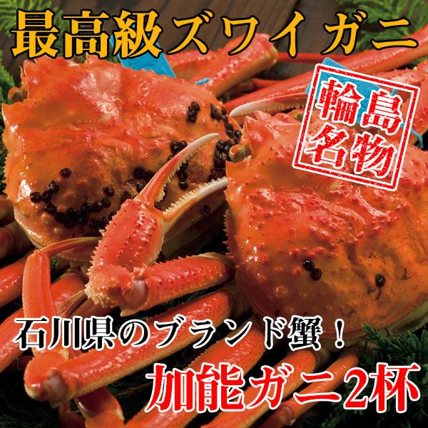 【カニ通販】ズワイガニ(加能ガニ)・2杯入※同梱不可・代金引換不可