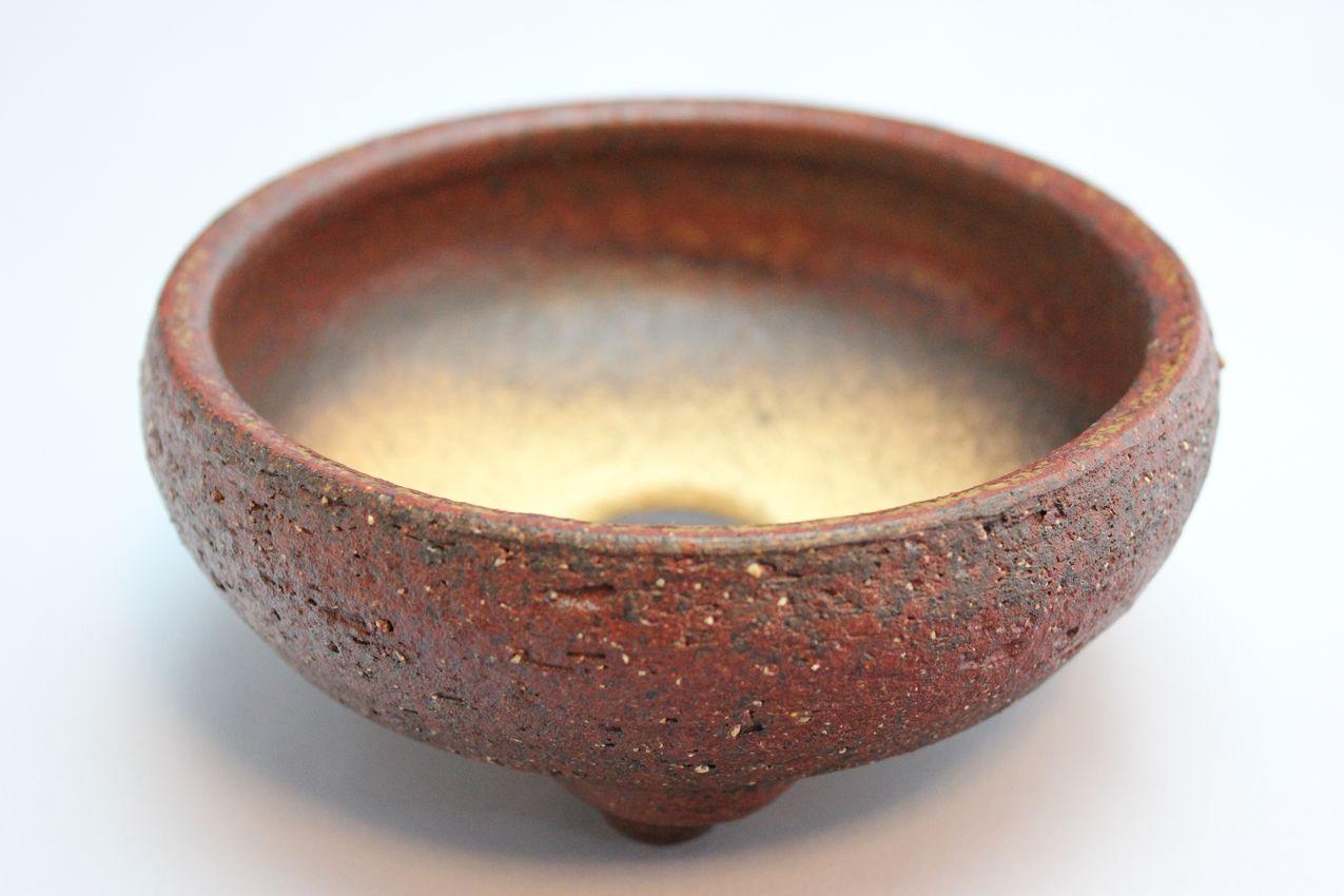 岩石鉄鉢,5号,信楽焼,植木鉢,盆栽鉢