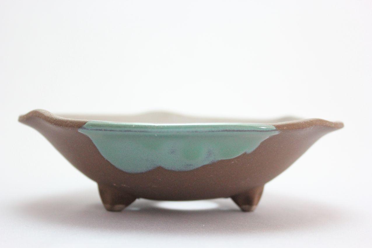 ウデ浅丸山草,5号,信楽焼,植木鉢,盆栽鉢