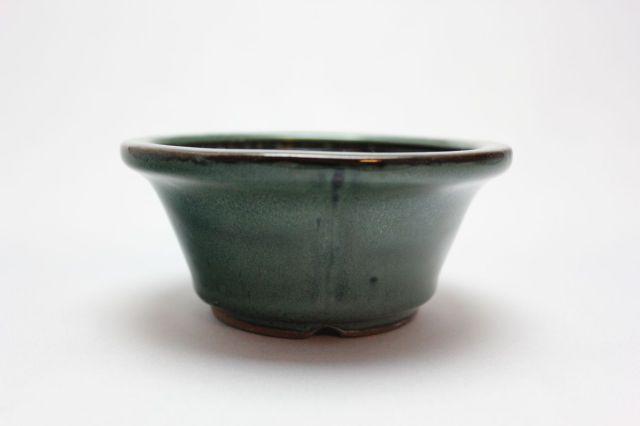 丸外縁立筋,織部,4号,中国鉢,植木鉢