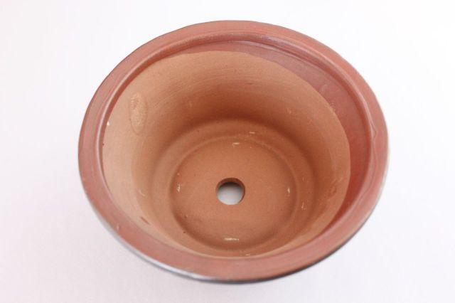 丸外縁立筋,黒吹,5号,中国鉢,植木鉢