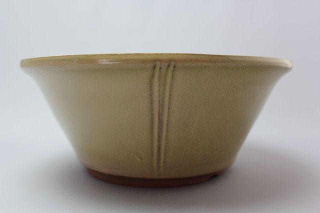 丸外縁立筋,クリーム,7号,中国鉢,植木鉢