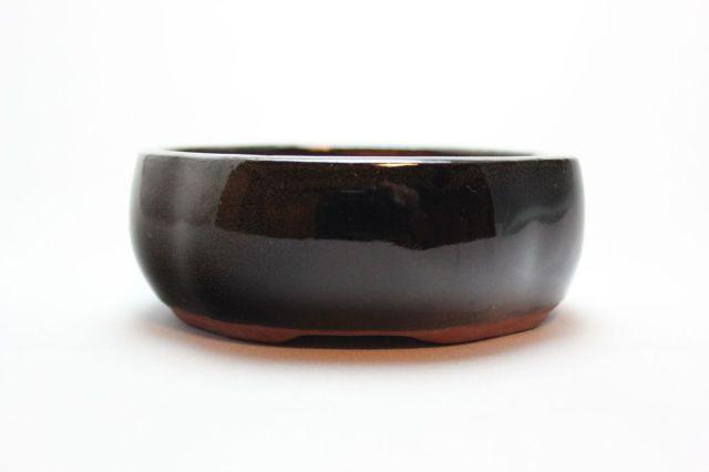 木瓜,黒釉,3.5号,中国鉢,植木鉢