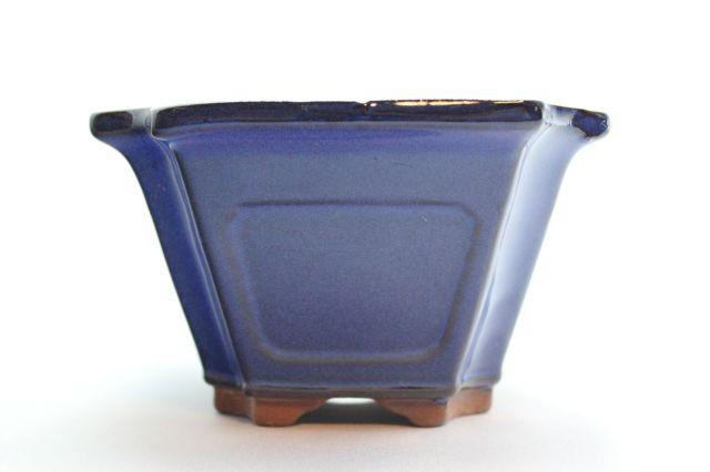 正方外縁隅切額入,生子,4号,中国鉢,植木鉢
