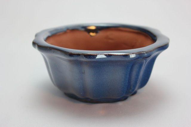 輪花外縁,生子,4号,中国鉢,植木鉢