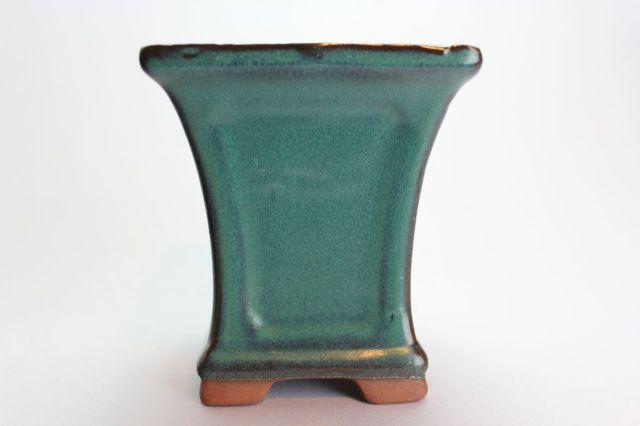 正方反型額入,織部,3.5号,中国鉢,植木鉢