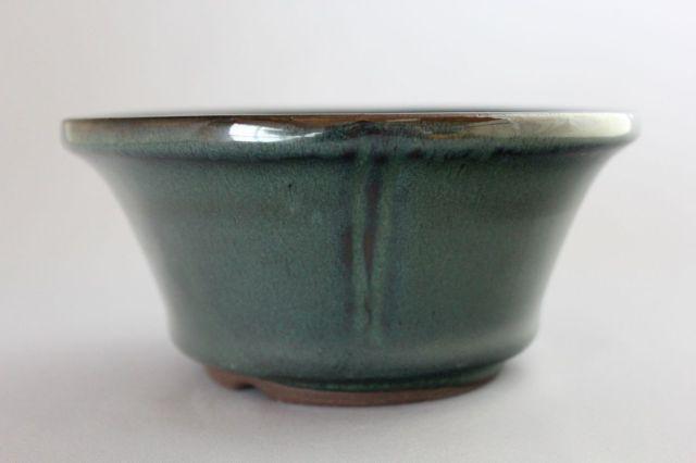 丸外縁立筋,織部,5号,中国鉢,植木鉢