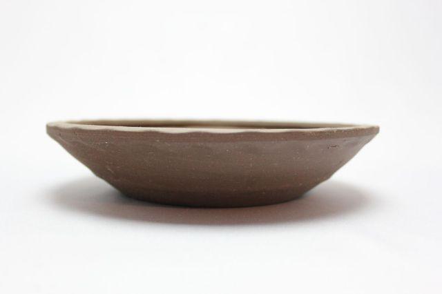 丸縄縁(浅),紫泥,6号,中国鉢,植木鉢