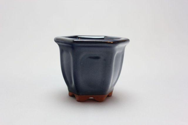 六方外縁額入,生子,2号,中国鉢,植木鉢