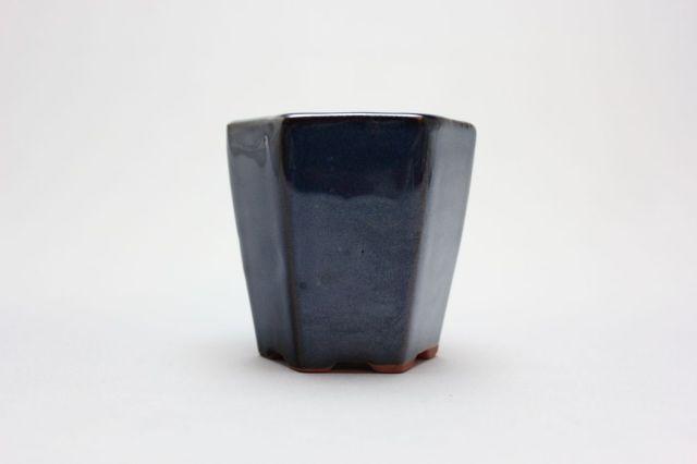 六方切立(深),生子,3号,中国鉢,植木鉢