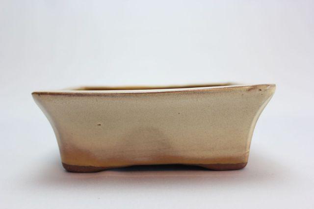 長方反方切足,クリーム,5号,中国鉢,植木鉢