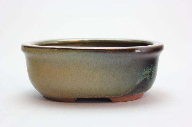 楕円外縁,ソバ,4号,中国鉢,植木鉢