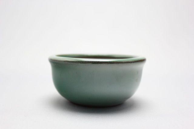 丸外縁,織部,4号,中国鉢,植木鉢