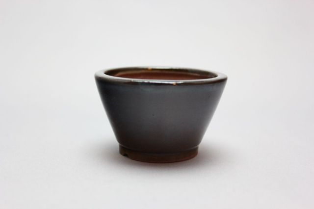 丸切立,織部,2号,中国鉢,植木鉢