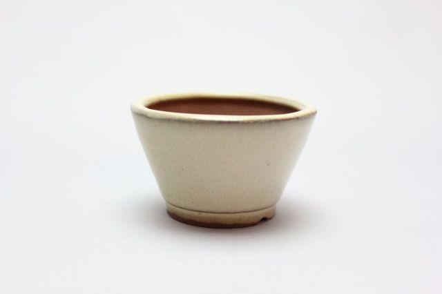 丸切立,クリーム,2号,中国鉢,植木鉢