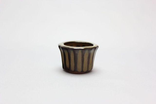輪花下帯,黄土,豆鉢,中国鉢,植木鉢