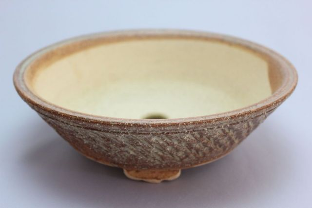 ソリ型丸,7号,信楽焼,植木鉢,盆栽鉢