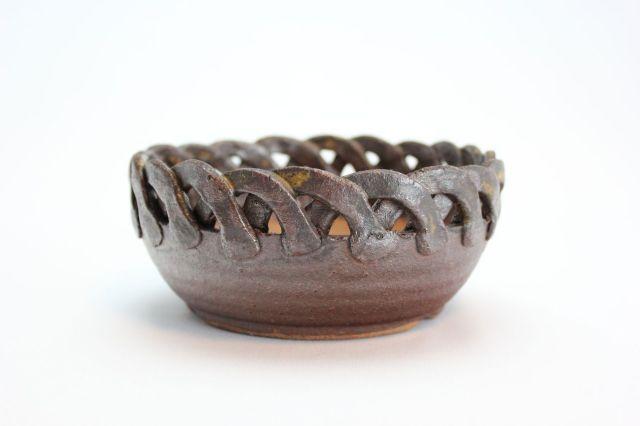 縄付,中染丸,5号,信楽焼,植木鉢