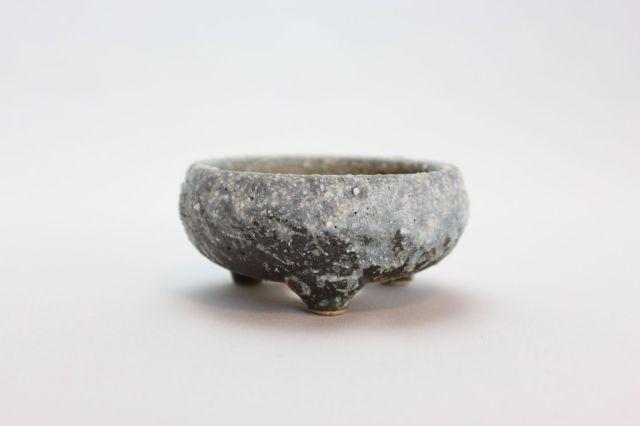 綿カベ白雪鉄鉢丸,3号,信楽焼,植木鉢,盆栽鉢