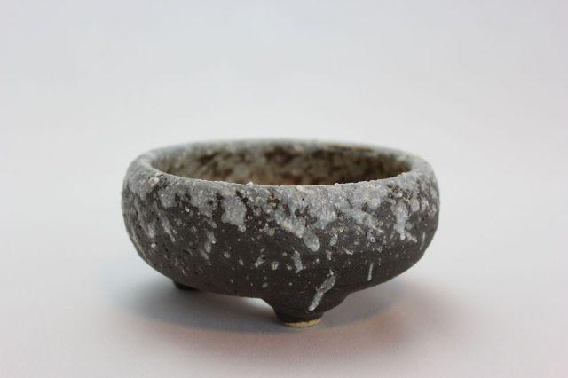 綿カベ白雪鉄鉢丸,4号,信楽焼,植木鉢,盆栽鉢