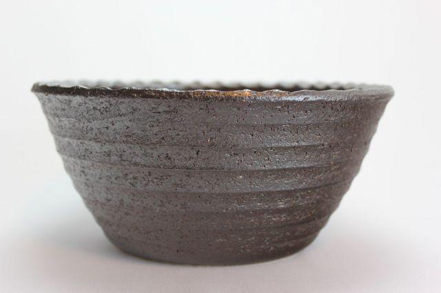 コゲ千段寄植鉢,7号,信楽焼,植木鉢,盆栽鉢