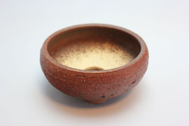 岩石鉄鉢,4号,信楽焼,植木鉢,盆栽鉢