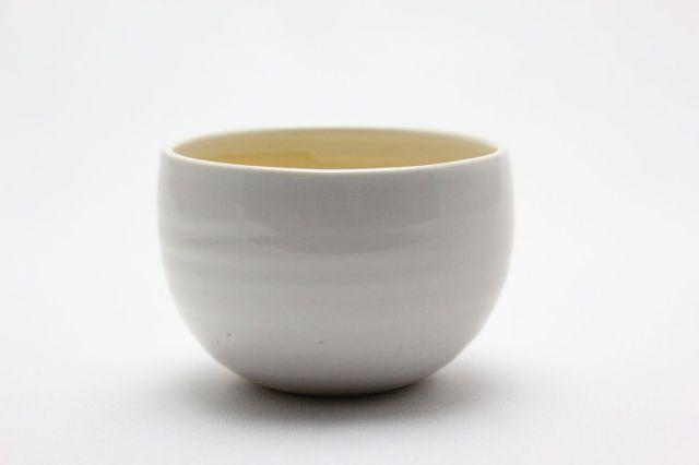 益造作,白碗型,3号,信楽焼,植木鉢