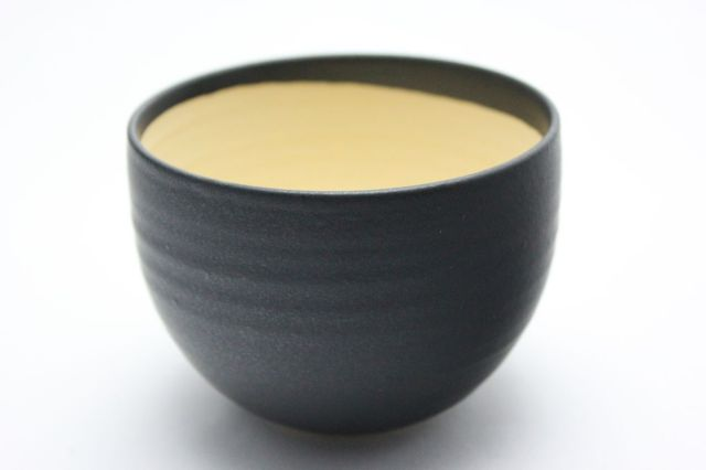 益造作,黒碗型,4号,信楽焼,植木鉢