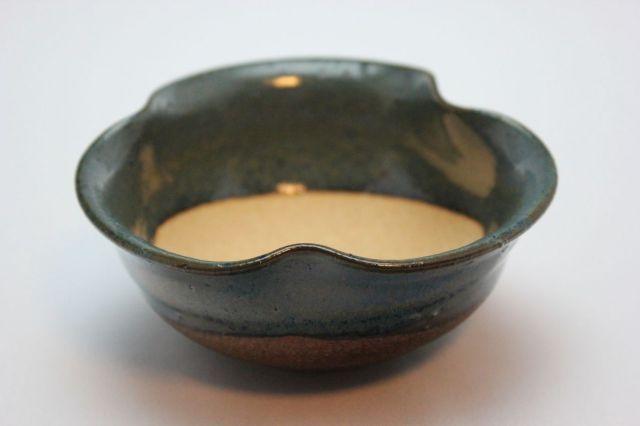 生子三方曲げ,3.5号,信楽焼,植木鉢,盆栽鉢