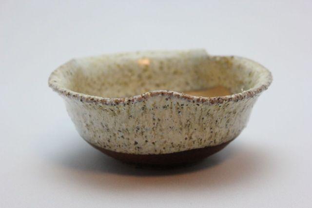 鉄砂三方曲げ,3.5号,信楽焼,植木鉢,盆栽鉢