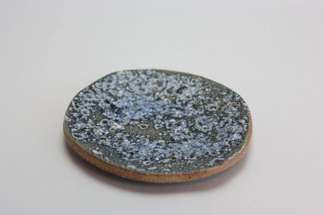 文五郎,青釉皿,4号,信楽焼,植木鉢