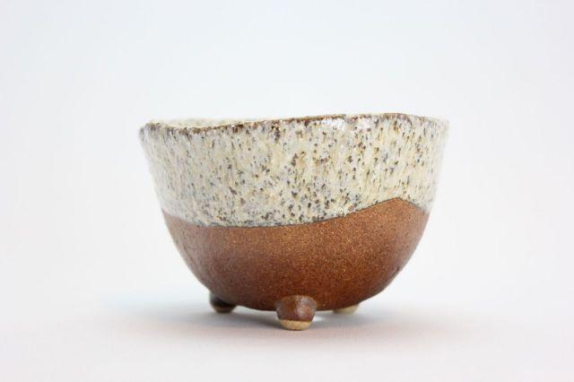 鉄砂三足,4号,信楽焼,植木鉢,盆栽鉢
