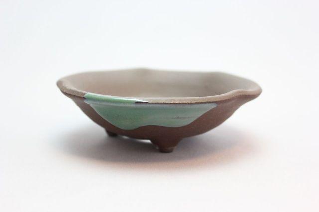 ウデ浅丸山草,3.5号,信楽焼,植木鉢,盆栽鉢