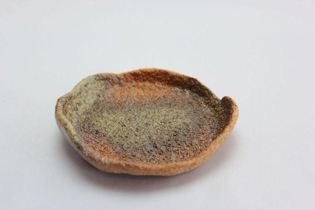 焼締皿,直径11,4号,信楽焼,植木鉢