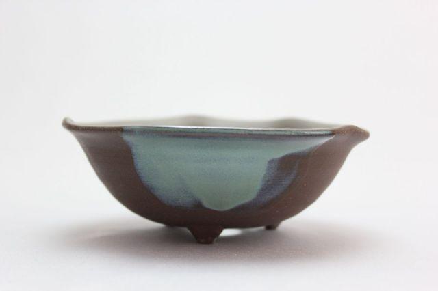 ウデ浅丸山草,4号,信楽焼,植木鉢,盆栽鉢