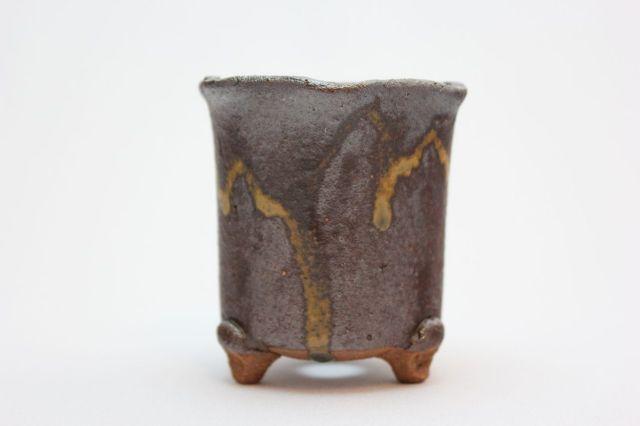 万作鉄イラボ花形,2号,信楽焼,植木鉢,盆栽鉢