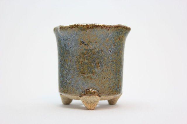 万作鎌倉花形,2号,信楽焼,植木鉢,盆栽鉢