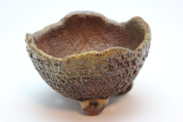 鉄鉢中深イラボ,5号,信楽焼,植木鉢,盆栽鉢